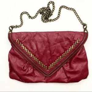 Matt & Nat Bag Crossbody Clutch Red Faux Leather